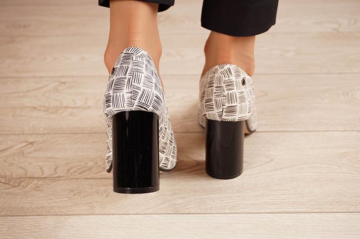 Pantofi dama din piele naturala cu imprimeu MSPD56820-2-20 [3]