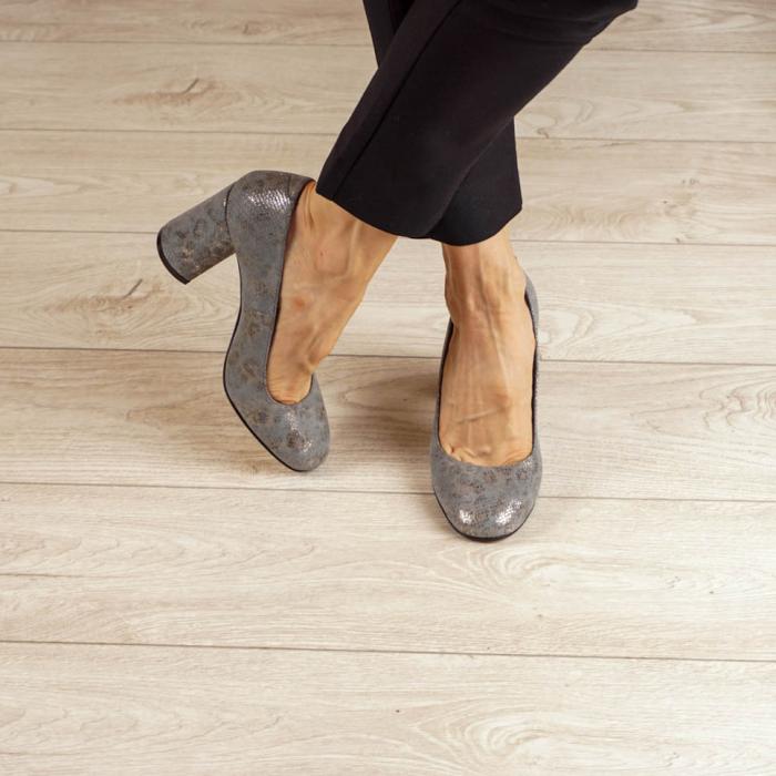 Pantofi dama din piele naturala cu imprimeu MSPD56820-20 [1]