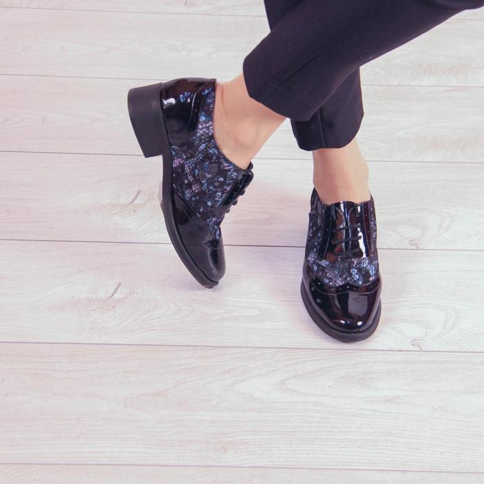 Pantofi dama din piele naturala cu imprimeu MSPD57218-2-20 1