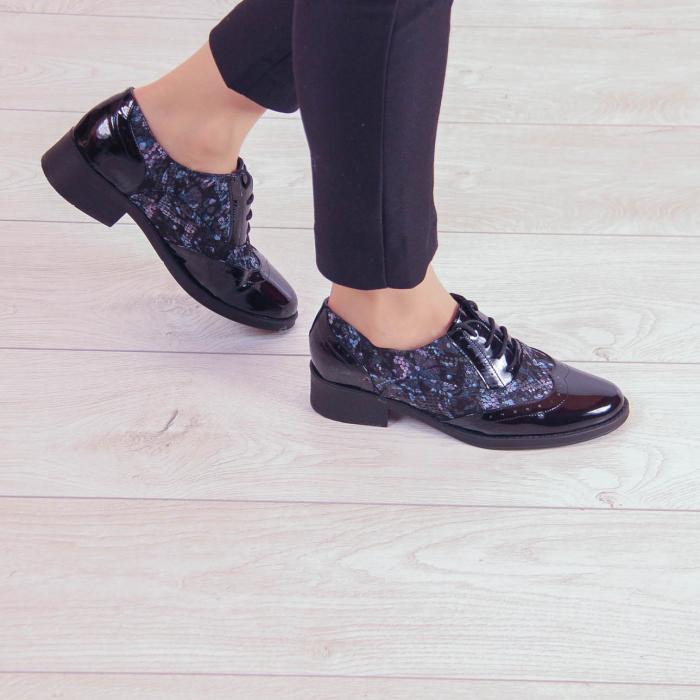 Pantofi dama din piele naturala cu imprimeu MSPD57218-2-20 0