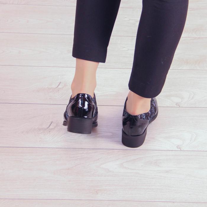 Pantofi dama din piele naturala cu imprimeu MSPD57218-2-20 3