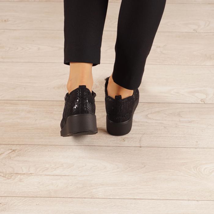 Pantofi dama din piele naturala cu imprimeu MSPD57520-20 3