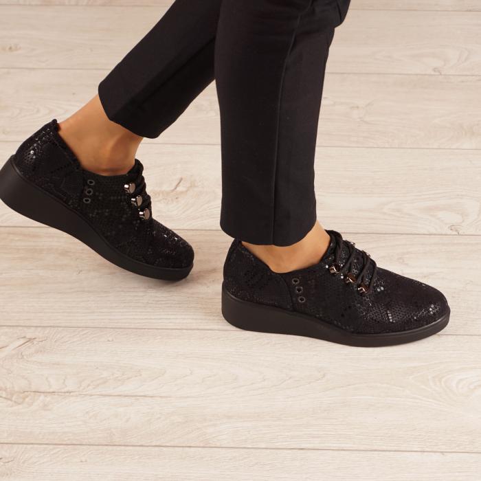 Pantofi dama din piele naturala cu imprimeu MSPD57520-20 0
