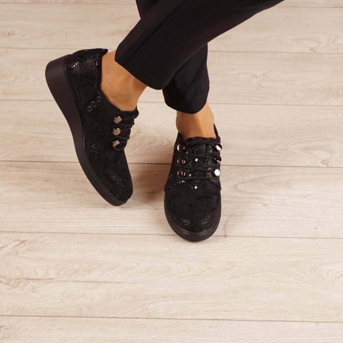 Pantofi dama din piele naturala cu imprimeu MSPD57520-20 1