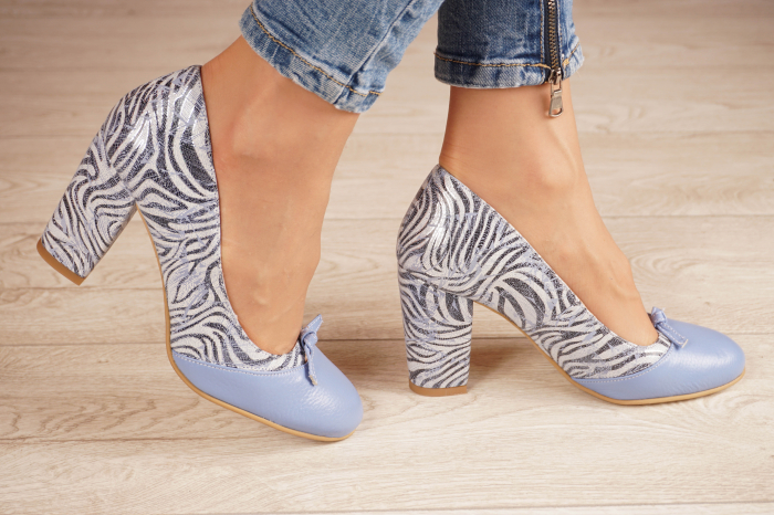 Pantofi dama din piele naturala cu imprimeu MSPD57619-20 [1]