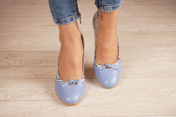 Pantofi dama din piele naturala cu imprimeu MSPD57619-20 [2]