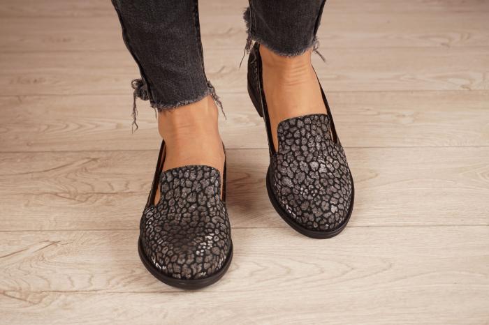 Pantofi dama din piele naturala cu imprimeu MSPD59420-20 [3]