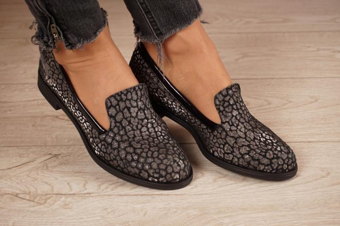 Pantofi dama din piele naturala cu imprimeu MSPD59420-20 [1]