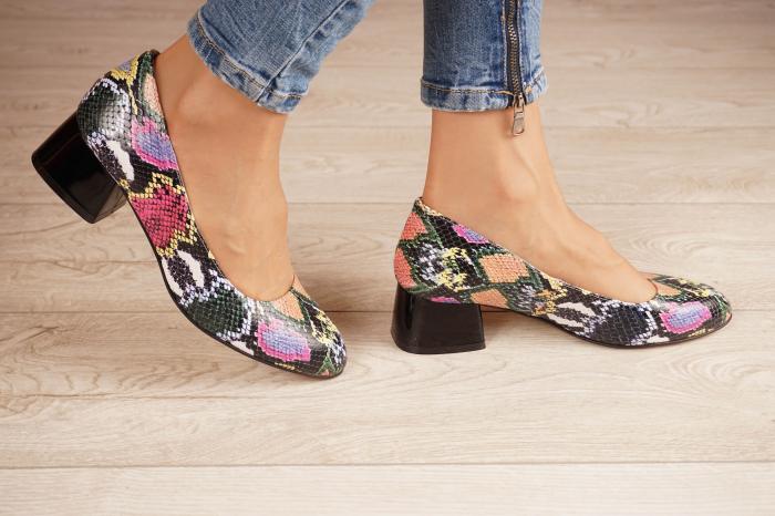 Pantofi dama din piele naturala cu imprimeu MSPD59520-20 [1]