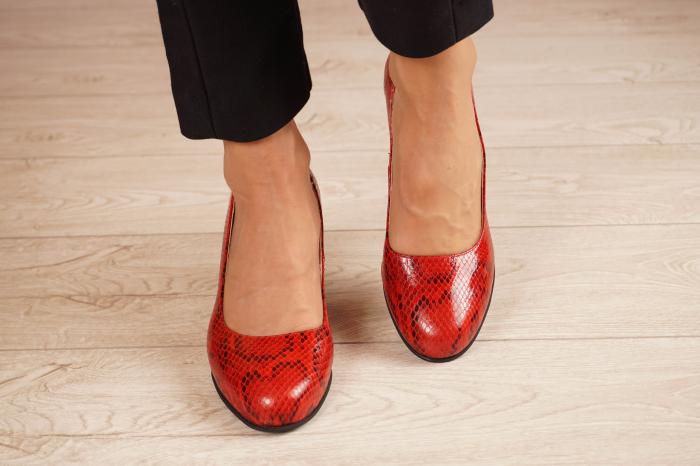 Pantofi dama din piele naturala cu imprimeu MSPD59720-20 [2]