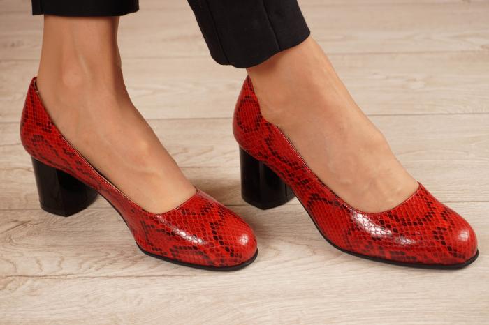 Pantofi dama din piele naturala cu imprimeu MSPD59720-20 [0]