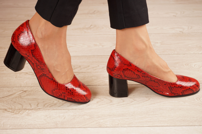 Pantofi dama din piele naturala cu imprimeu MSPD59720-20 [1]