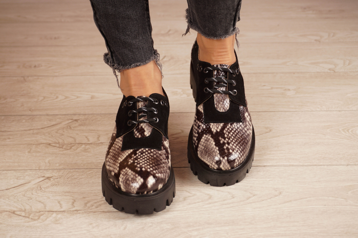 Pantofi dama din piele naturala cu imprimeu MSPD60020-20 [3]