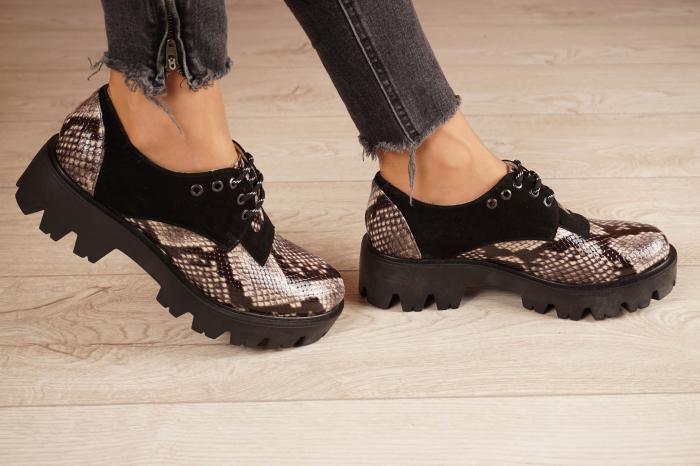 Pantofi dama din piele naturala cu imprimeu MSPD60020-20 [2]