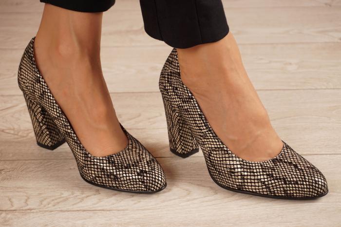 Pantofi dama din piele naturala cu imprimeu MSPD799-4-20 [0]