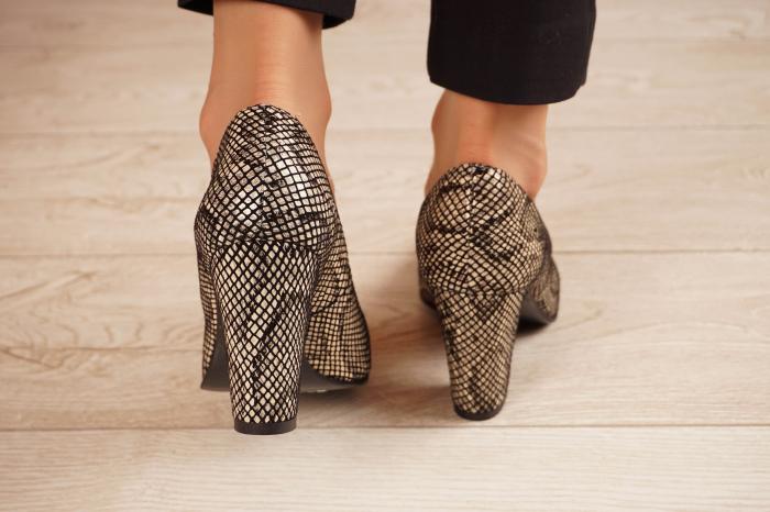 Pantofi dama din piele naturala cu imprimeu MSPD799-4-20 [3]