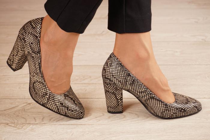 Pantofi dama din piele naturala cu imprimeu MSPD799-4-20 [1]