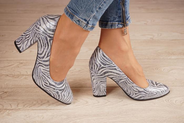Pantofi dama din piele naturala cu imprimeu MSPD799-5-20 [1]