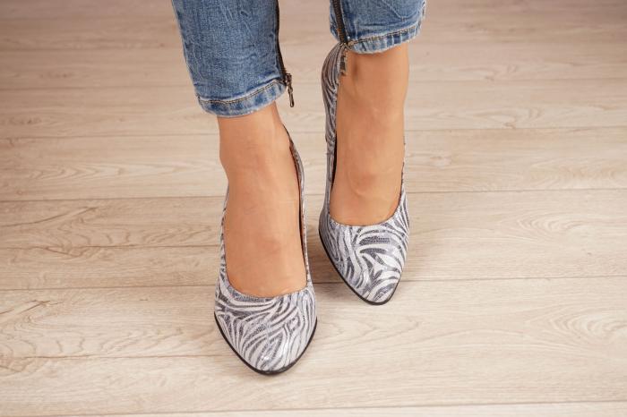 Pantofi dama din piele naturala cu imprimeu MSPD799-5-20 [2]