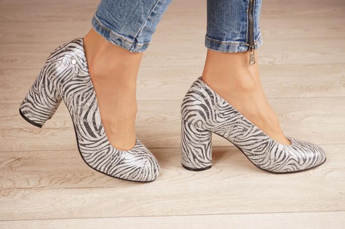 Pantofi dama din piele naturala cu imprimeu zebra MSPD56820-1-20 [1]