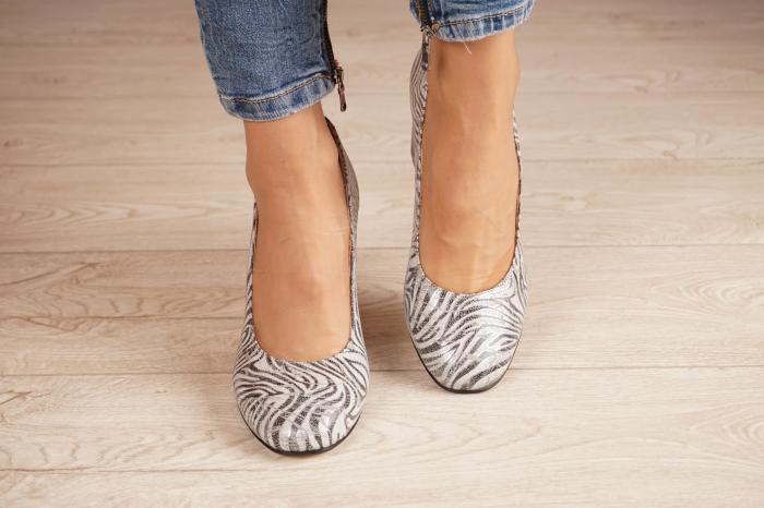 Pantofi dama din piele naturala cu imprimeu zebra MSPD56820-1-20 [2]