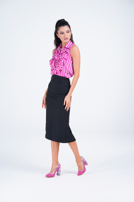 Pantofi dama din piele naturala fuxia MSPD56020-1-20 [5]