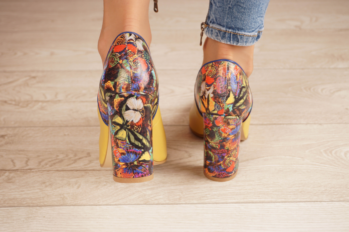 Pantofi dama din piele naturala galbena MSPD50320-1-20 [3]