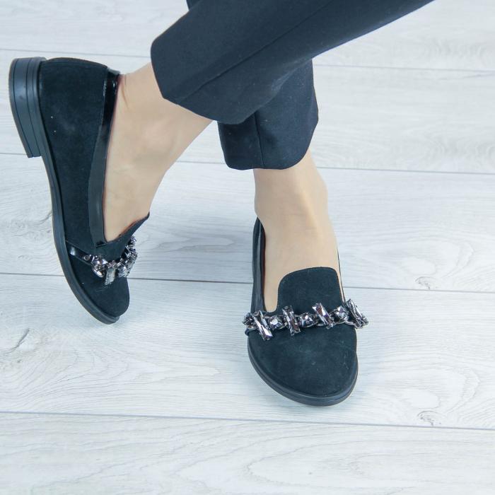 Pantofi dama din piele naturala intoarsa MSPD54920-20 [0]