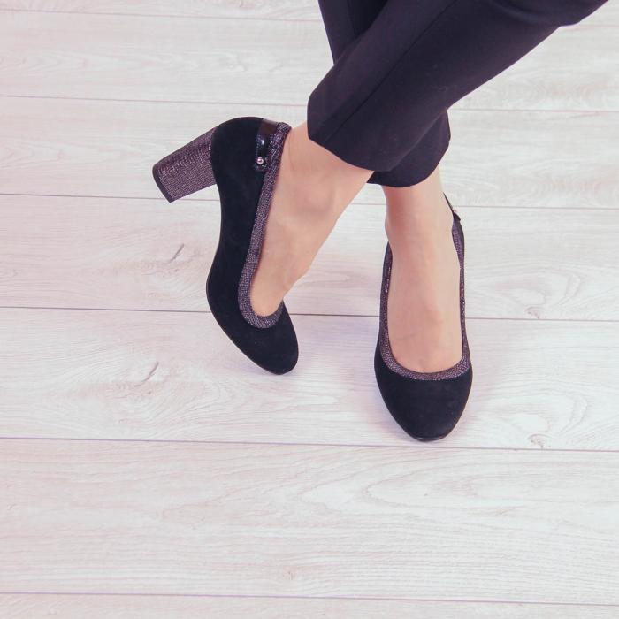 Pantofi dama din piele naturala intoarsa MSPD56719-2-20 [1]