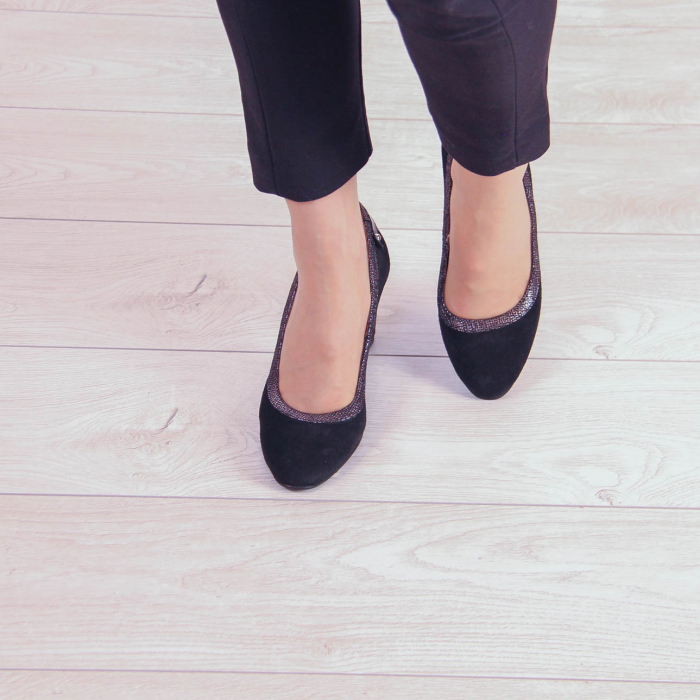 Pantofi dama din piele naturala intoarsa MSPD56719-2-20 [2]