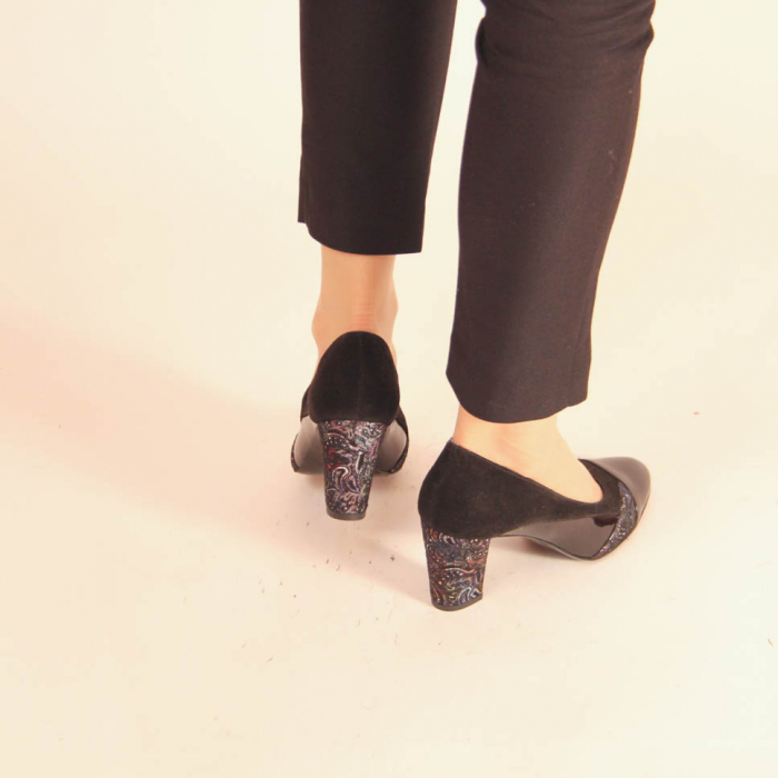 Pantofi dama din piele naturala neagra MSPD56819-20 [3]