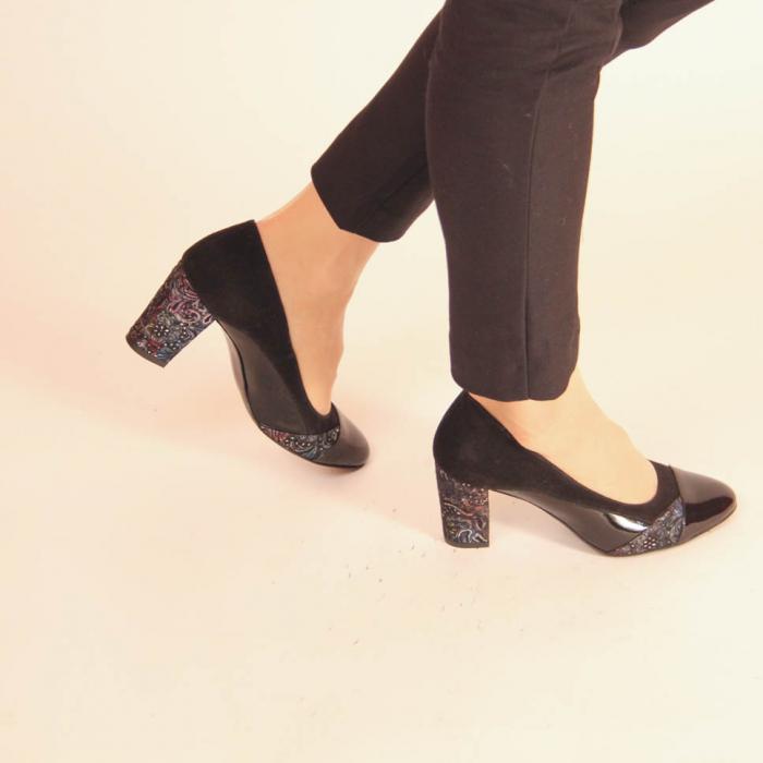 Pantofi dama din piele naturala neagra MSPD56819-20 [0]