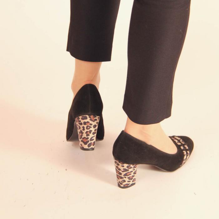 Pantofi dama din piele naturala intoarsa neagra MSPD57119-20 [3]