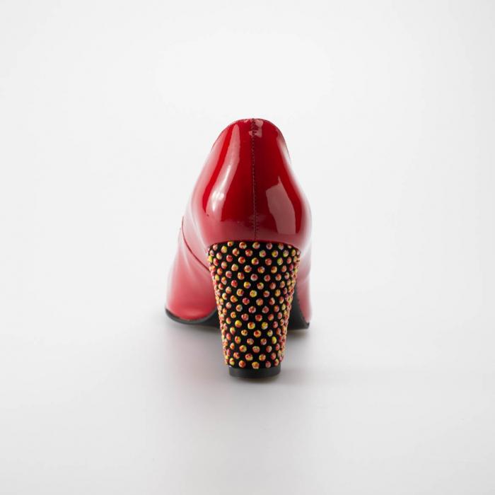Pantofi dama din piele naturala lacuita rosie MSPD52017-1-19 [3]
