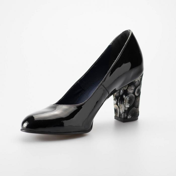 Pantofi dama din piele naturala lacuita neagra MSPD52017-2-19 [2]