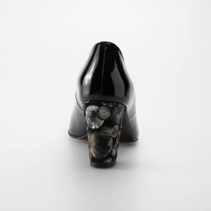 Pantofi dama din piele naturala lacuita neagra MSPD52017-2-19 [3]