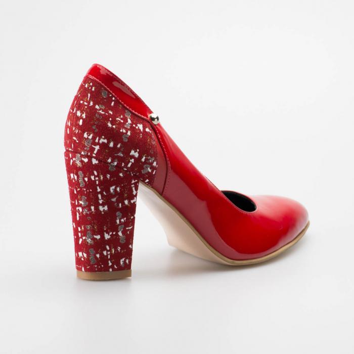 Pantofi dama din piele naturala lacuita rosie MSPD52218-19 [1]