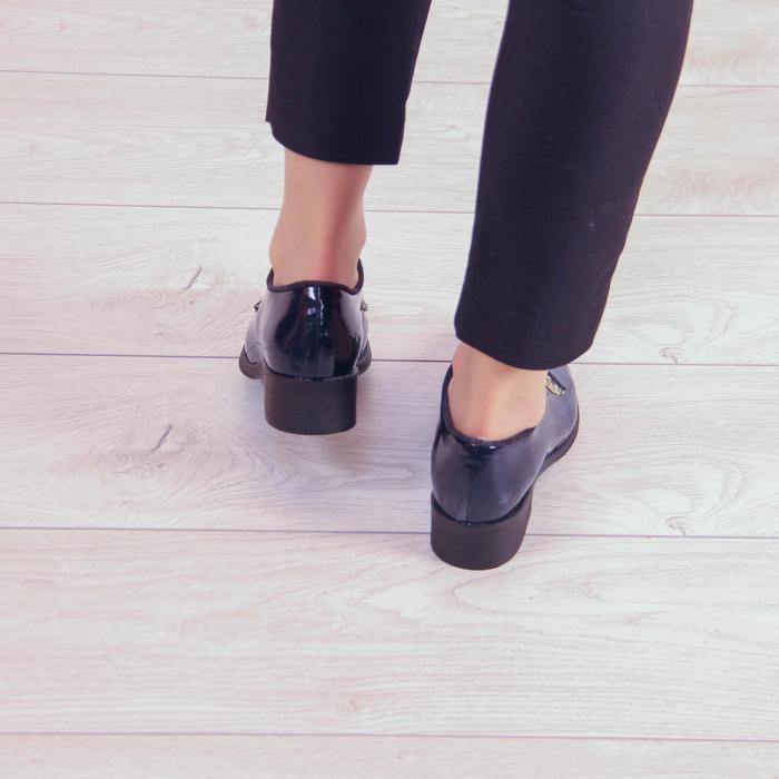 Pantofi dama din piele naturala lacuita MSPD55319-20 3