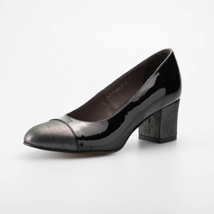 Pantofi dama din piele naturala lacuita MSPD56318-19 [2]