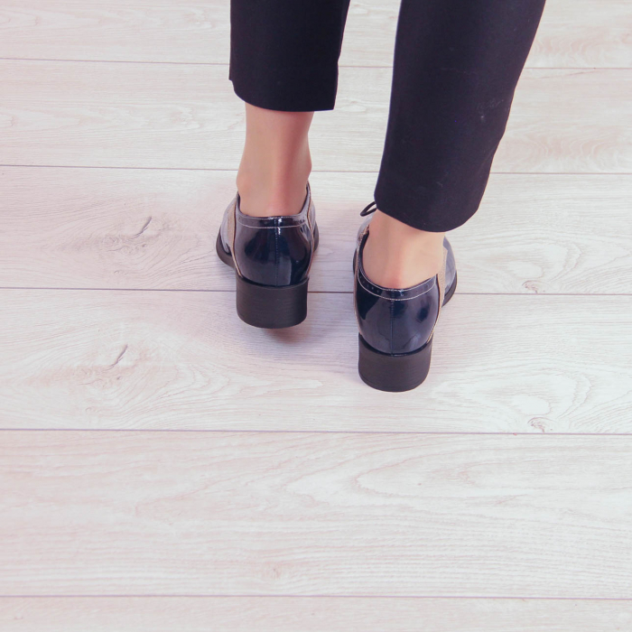 Pantofi dama din piele naturala lacuita MSPD59419-20 2