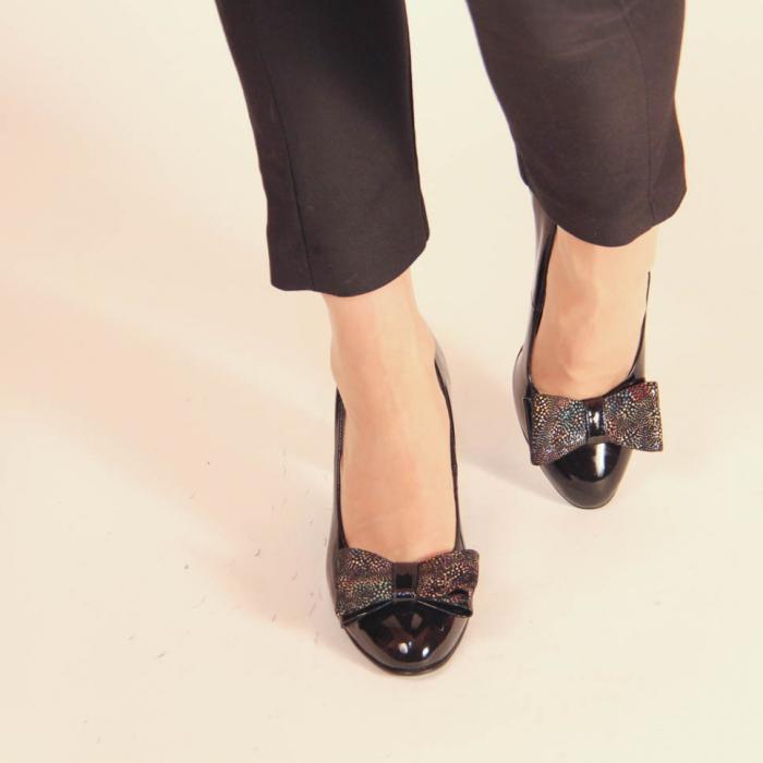 Pantofi dama din piele naturala lacuita neagra MSPD61917-2-20 [1]