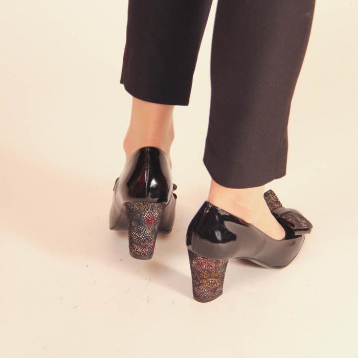 Pantofi dama din piele naturala lacuita neagra MSPD61917-2-20 [2]