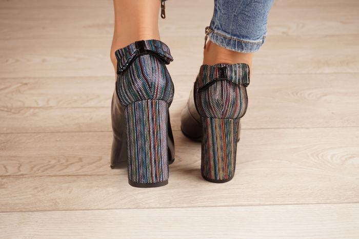 Pantofi dama din piele naturala lacuita neagra MSPD51017-1-20 [3]
