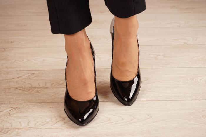 Pantofi dama din piele naturala lacuita neagra MSPD53018-1-20 [2]