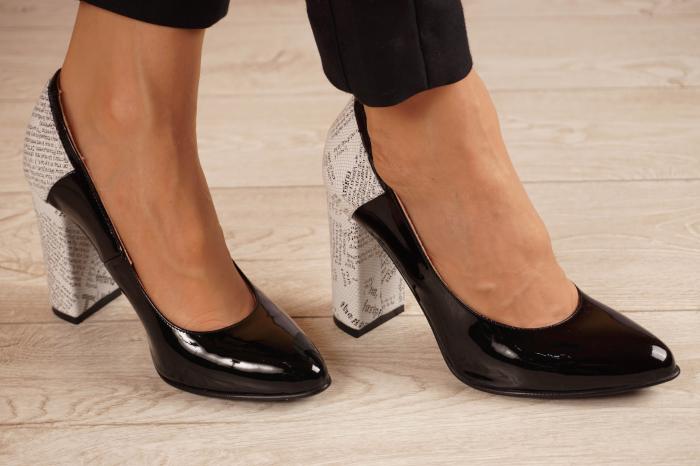 Pantofi dama din piele naturala lacuita neagra MSPD53018-1-20 [0]
