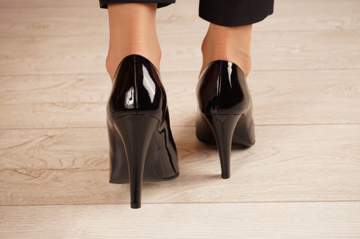Pantofi dama din piele naturala lacuita neagra MSPD58820-20 [3]