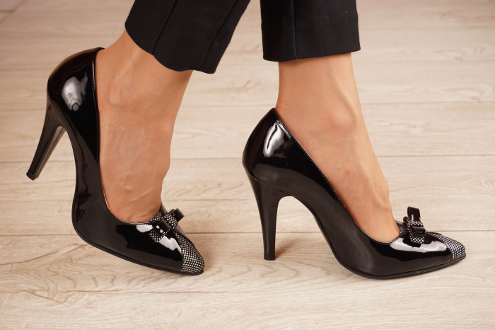 Pantofi dama din piele naturala lacuita neagra MSPD58820-20 [1]