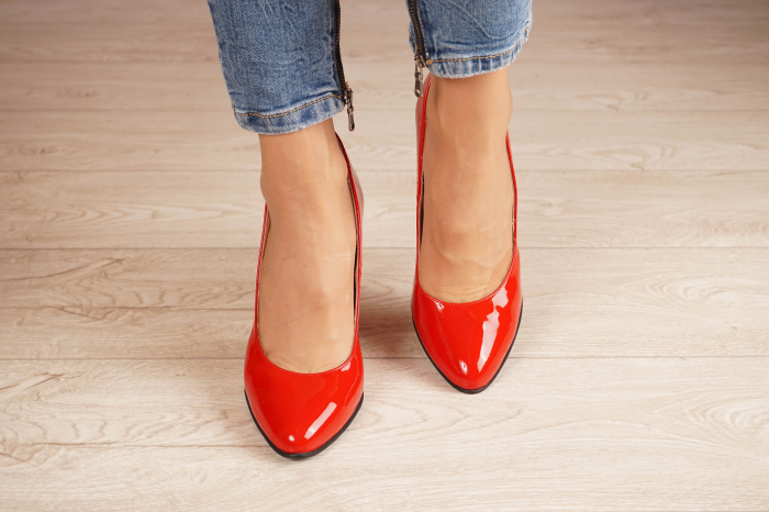 Pantofi dama din piele naturala lacuita rosie MSPD53719-4-20 [2]