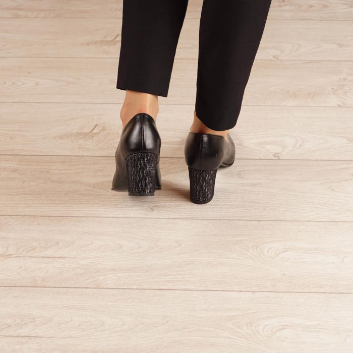 Pantofi dama din piele naturala neagra MSPD190-33-20 [3]