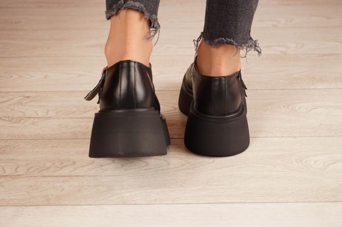 Pantofi dama din piele naturala neagra MSPD51021-21 [4]